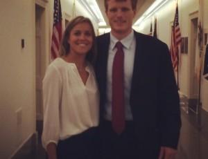 Aprill Lane with Representative Joe Kennedy.